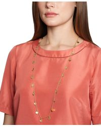 Brooks Brothers | Metallic Gold Hammered Illusion Necklace | Lyst