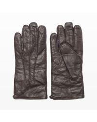 Club Monaco Brown Washed Leather Glove