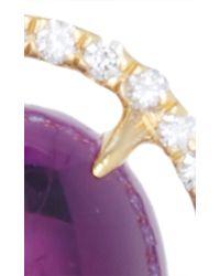 Jordan Alexander | Purple Mo Exclusive: 18k Gold Diamond And Amethyst Earrings | Lyst