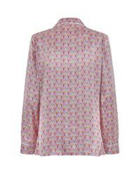 Olivia Von Halle | Purple Lila Saori Long Pyjamas | Lyst