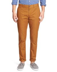 Original Penguin | Brown 'p55' Slim Fit Chinos for Men | Lyst