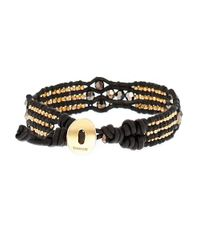 Chan Luu | Black Faceted Bead And Leather Bracelet | Lyst
