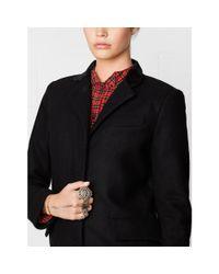 Denim & Supply Ralph Lauren Black Chesterfield Coat