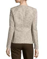 Lafayette 148 New York - Natural Lana Zip Front Jacket - Lyst