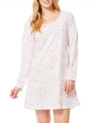 Carole Hochman | Natural Long-sleeve Sleepshirt | Lyst
