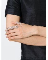Elise Dray | Metallic 'georgia' Double Finger Bondage Ring | Lyst