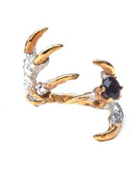 Tessa Metcalfe | Multicolor Pigeon Grasp Claws With Sapphire Ring | Lyst