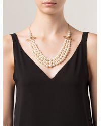 Vivienne Westwood | White 'jordan' Safety Pin Necklace | Lyst