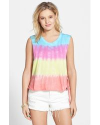 Volcom - Multicolor 'knots' Side Tie Muscle Tank - Lyst