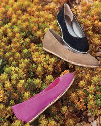 Donald J Pliner Purple Poppy Suede Skimmer Flats