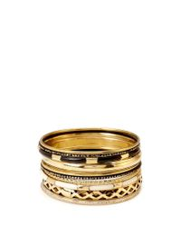 Forever 21 | Black Antiqued Bangle Set | Lyst