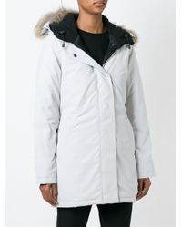 Canada Goose Gray Trimmed Hood Padded Jacket