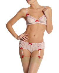 L'Agent by Agent Provocateur - Pink Febe Stretch-Mesh Suspender Briefs - Lyst