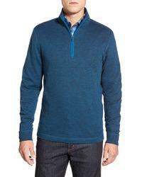 Bugatchi | Blue Quarter Zip Pullover for Men | Lyst