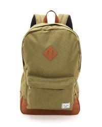 Herschel Supply Co. - Green Heritage Backpack for Men - Lyst