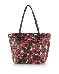 Love Moschino - Multicolor Roseprint Quiltedleathertote - Lyst