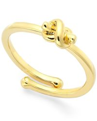 kate spade new york | Metallic Love Knot Adjustable Ring | Lyst