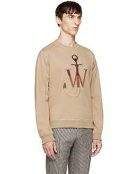 J.W.Anderson Natural Camel Logo Pullover for men