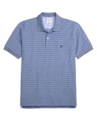 Brooks Brothers | Blue Original Fit Two-tone Stripe Polo for Men | Lyst