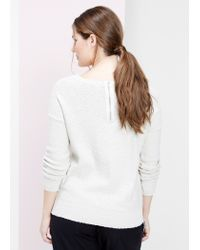 Violeta by Mango Natural Texture Cotton Sweater