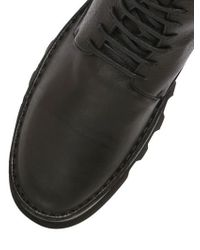 BB Bruno Bordese Black Zipped Laced Leather Boots
