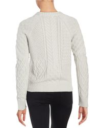1.STATE - Metallic Cable Knit Sweater - Lyst