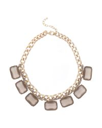Persona - Metallic Lia Square Jewels Short Necklace - Lyst