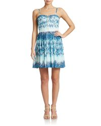 Guess | Multicolor Abstract Print A-line Dress | Lyst