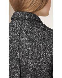 Burberry | Gray Wool Cotton Jersey Jacket | Lyst
