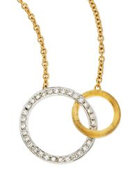 Marco Bicego | Metallic Jaipur Diamond & 18k Gold Link Necklace | Lyst