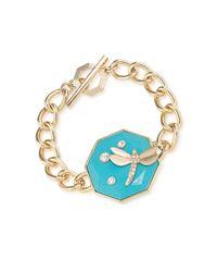 Carolee - Blue Dragonfly Toggle Bracelet - Lyst