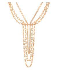 Henri Bendel | Pink Deb Link Waterfall Necklace | Lyst