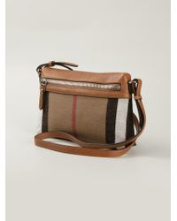 Burberry Brown Haymarket Check Shoulder Bag