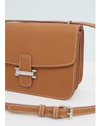 Mango - Brown Flap Cross-body Bag - Lyst