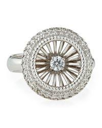 Roberto Coin - White Art Nouveau Pav Diamond Ring Size 7 - Lyst