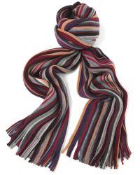 Jules B - Red Mens Multi Stripe Wool Scarf for Men - Lyst