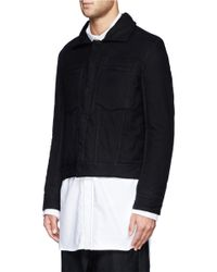 Ann Demeulemeester - Black Padded Cotton Jacket for Men - Lyst