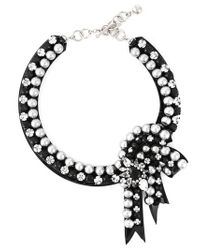 Shourouk | Black 'bow' Necklace | Lyst