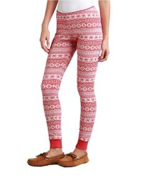 UGG | Red Hazelton Sleep Leggings | Lyst