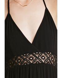 Forever 21 - Black Crocheted Halter Maxi Dress - Lyst
