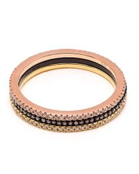 Rosa De La Cruz - Pink Diamond Band Ring - Lyst