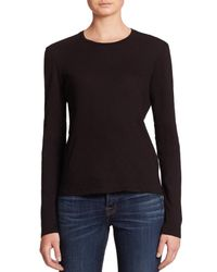 J Brand | Black Montara Long-sleeve Cotton Tee | Lyst