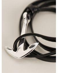 Miansai - Black Anchor Bracelet for Men - Lyst