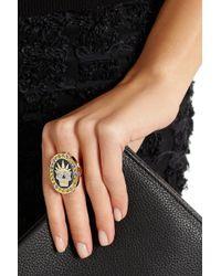 Holly Dyment - Metallic Thursday 18karat Gold Enamel Diamond and Sapphire Ring - Lyst