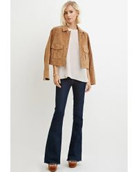 Forever 21 | Natural Classic Vented Top | Lyst