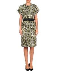 Balenciaga | Yellow Knee-length Dress | Lyst
