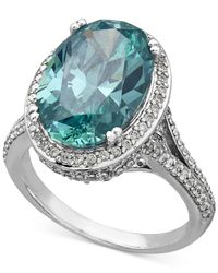 Arabella | Green Mint And White Swarovski Zirconia Ring In Sterling Silver (12-3/4 Ct. T.w.) | Lyst