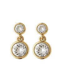 Karen Millen | Metallic Crystal Dot Drop Earring | Lyst