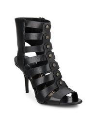 Kenneth Cole | Black Thatford Leather Gladiator Sandals | Lyst