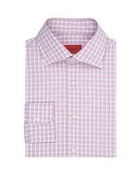 Isaia Pink Check Shirt for men